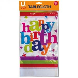 Happy Birthday Party Tablecloth